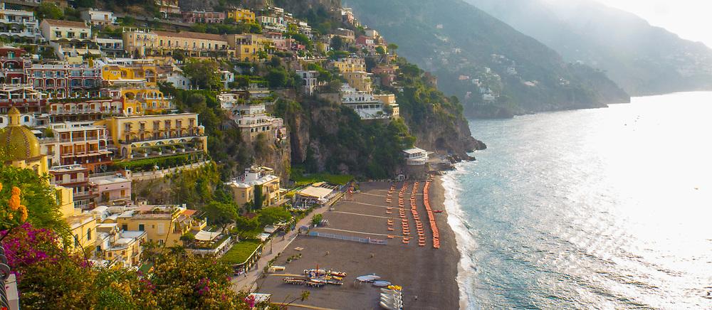 Panoramic of Positano, a cliffside village on the Amalfi Coast, Campania region, Italy