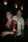 Dinos Chapman and Tiphaine de Lussis. Tracey Emin's ' When I Think about Sex' exhibition after-party. Momo. Heddon St. London. 26 May 2005. ONE TIME USE ONLY - DO NOT ARCHIVE  © Copyright Photograph by Dafydd Jones 66 Stockwell Park Rd. London SW9 0DA Tel 020 7733 0108 www.dafjones.com