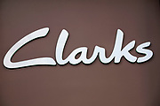 Sign for shoe shop Clarks.