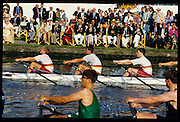 Henley; GREAT BRITAIN; Quadruple Sculls event Queen Mother Challege trophy Tideway Scullers School BC.., Henley Royal Regatta; Henley Reach; 2-6 July 1997; Henley; ENGLAND [Mandatory Credit; Peter Spurrier/Intersport-images] 1997 Henley Royal Regatta, Henley, Great Britain