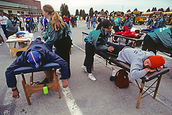 Runners Getting Massages, Boston Marathon 1991