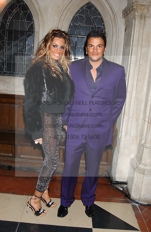JORDAN and PETER ANDRE at Andy & Patti Wong's annual Chinese New Year party, this year celebrating the year of the dog held at The Royal Courts of Justice, The Strand, London WC2 on 28th January 2006.<br /><br />NON EXCLUSIVE - WORLD RIGHTS