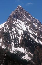 Mountain peak  'Els Encantats'  in Aigues Tortes National Park; Pyrenees,