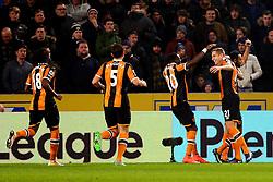 Michael Dawson of Hull City celebrates after scoring his sides first goal  - Mandatory by-line: Matt McNulty/JMP - 30/12/2016 - FOOTBALL - KCom Stadium - Hull, England - Hull City v Everton - Premier League