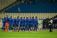 ATHENS, GREECE - OCTOBER 14: Kosovo team prior to the UEFA Nations League group stage match between Greece and Kosovo at OACA Spyros Louis on October 14, 2020 in Athens, Greece. (Photo by MB Media)