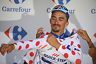 Podium, Julian Alaphilippe (FRA - QuickStep - Floors) Polka dots jersey, winner during the 105th Tour de France 2018, Stage 16, Carcassonne - Bagneres de Luchon (218 km) on July 24th, 2018 - Photo Kei Tsuji / BettiniPhoto / ProSportsImages / DPPI