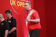 Glen Durrant wins leg and celebrates during the Ladrokes UK Open 2019 at Butlins Minehead, Minehead, United Kingdom on 1 March 2019.