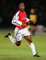 Sylvian Wiltord (Arsenal). Shakhtar Donetsk 3:0 Arsenal, UEFA Champions League, Group B, Centralny Stadium, Donetsk, Ukraine, 7/11/2000. Credit Colorsport / Stuart MacFarlane.