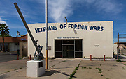 Veterans of Foriegn Wars centre, downtown Las Vegas, Nevada.<br /> The VFW Foundation is a charity which fills in governmental assistance gaps for troops abroad, military families back in the U.S. and America's often-forgotten veterans
