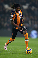 Dieumerci Mbokani of Hull City during the English Premier League match at the KCOM Stadium, Kingston Upon Hull. Picture date: December 30th, 2016. Pic Simon Bellis/Sportimage