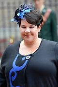 Prinsjesdag 2013 - Aankomst Parlementariërs bij de Ridderzaal op het Binnenhof.<br /> <br /> Op de foto: Sharon Dijksma - Staatssecretaris van Economische Zaken