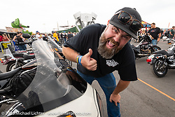 Joe Mielke's FXR show at the Buffalo Chip's Crossroads area during the 78th annual Sturgis Motorcycle Rally. Sturgis, SD. USA. Sunday August 5, 2018. Photography ©2018 Michael Lichter.