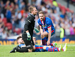 Inverness Caledonian Thistle's Ryan Esson with players at the end. Falkirk 1 v 2 Inverness CT, Scottish Cup final at Hampden.
