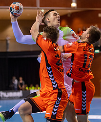 11-04-2019 NED: Netherlands - Slovenia, Almere<br /> Third match 2020 men European Championship Qualifiers in Topsportcentrum in Almere. Slovenia win 26-27 /