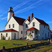 """""""Light Upon Light""""<br /> <br /> The lovely Point Iroquois Light Station! A scenic lighthouse located on the shores of Lake Superior in Michigan's Upper Peninsula!!<br /> <br /> Lighthouses of the Great Lakes by Rachel Cohen"""