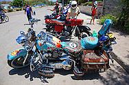 Motorcycles in Manzanillo, Granma, Cuba.