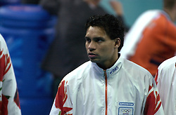 21-09-2000 AUS: Olympic Games Volleybal Nederland - Brazilie, Sydney<br /> Nederland verliest met 3-0 van Brazilie / Misha Latihihin