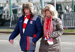 Stoke City fans arrive at bet365 stadium