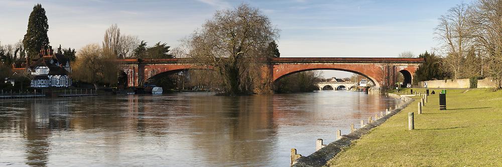 Maidenhead Railway Bridge over the River Thames, Maidenhead, Berkshire, Uk