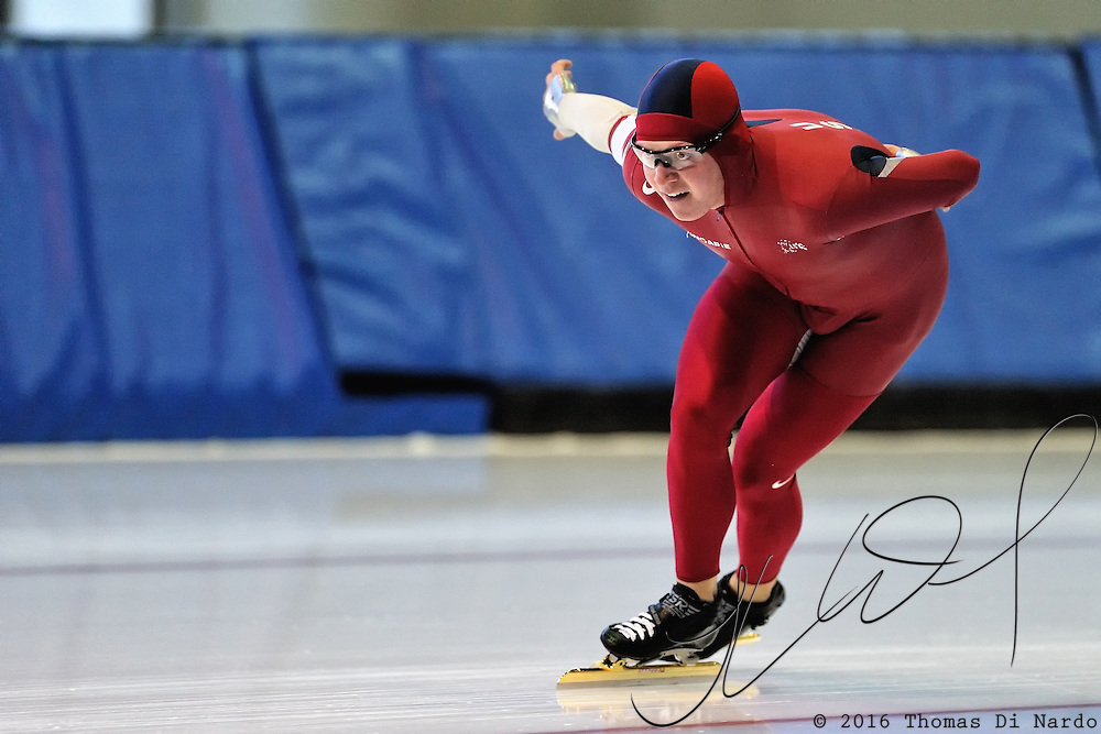 September 18, 2010 - Kearns, Utah - Hank Galbraith races in long track speedskating time-trials held at the Utah Olympic Oval.