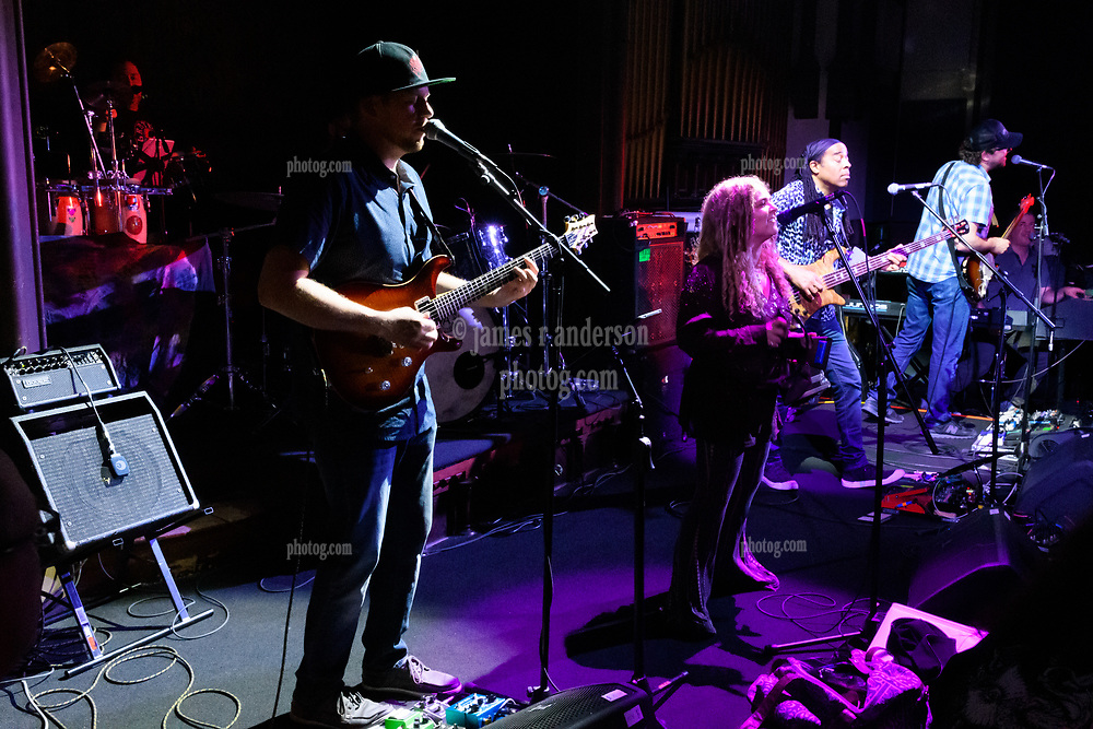 Matt McNulty, Jen Durkin, Doug Wimbish and Tim Palmieri with Steal Your Funk at The Stone Church Brattleboro VT on 7 April 2018