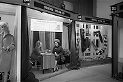 24/04/1964<br /> 04/24/1964<br /> 24 April 1964 <br /> Stands at the Irish Export Fashion Fair at the Intercontinental Hotel, Dublin. Donegal Design Ltd. (Friarsland Mill, Roebuck Road, Dublin) stand at the fair.