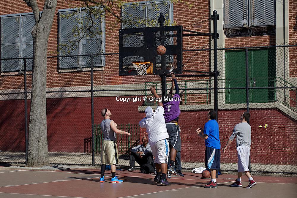 Basketball game in Brooklyn, NY