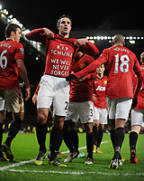 Robin Van Persie Celebrates Scoring 2nd goal (With Message on his shirt which Reads R.I.P Tchuna We Will Never Forget You)<br /> --------------------<br /> <br /> Barclays Premier League<br /> Manchester United v West Bromwich Albion<br /> 29 December 2012<br /> Norway only