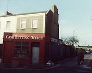 old dublin street photos October 1983 Cash Betting Office Old amateur photos of Dublin streets churches, cars, lanes, roads, shops schools, hospitals