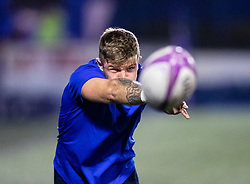 Lewis Jones of Cardiff Blues during the pre match warm up<br /> <br /> Photographer Simon King/Replay Images<br /> <br /> European Rugby Challenge Cup Round 2 - Cardiff Blues v Leicester Tigers - Saturday 23rd November 2019 - Cardiff Arms Park - Cardiff<br /> <br /> World Copyright © Replay Images . All rights reserved. info@replayimages.co.uk - http://replayimages.co.uk