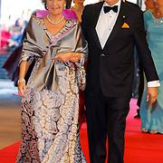 NLD/Amsterdam/20130429- Afscheidsdiner Konining Beatrix Rijksmuseum, princess Margriet and Mr. Pieter van Vollenhoven