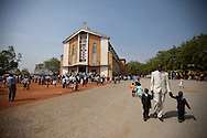 South Sudanese attend a catholic Chirstmas service at the Juba cathederal on December 15, 2010.