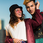 Photoshoot with Los Angeles models, Stephanie and Brandon in Downtown Los Angeles, California on April 18, 2019.