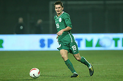 Andraz Kirm (19) of Slovenia during the UEFA Friendly match between national teams of Slovenia and Denmark at the Stadium on February 6, 2008 in Nova Gorica, Slovenia. Slovenia lost 2:1. (Photo by Vid Ponikvar / Sportal Images).