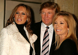 Jan. 7, 2005 - New York, New York, U.S. - MELANIA KNAUSS, DONALD TRUMP AND KATHIE LEE GIFFORD ARRIVING AT THE OPENING NIGHT OF KATHIE LEE GIFFORD'S NEW MUSICAL UNDER THE BRIDGE AT THE ZIPPER THEATRE IN NEW YORK New York ON 01-06-2005.    /   2005..K41013HMC(Credit Image: © Henry McGee/ZUMAPRESS.com)