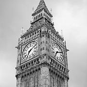Parliment Big Ben - Westminster, UK - Black & White
