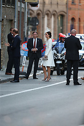 July 30, 2017 - Ypres, Belgium - Image licensed to i-Images Picture Agency. 30/07/2017. Ypres, Belgium. The Duke and Duchess of Cambridge arriving for the Last Post ceremony at the Menin Gate in Ypres, Belgium, to commemorate the 100th Anniversary of  Passchendaele. Picture by Stephen Lock / i-Images (Credit Image: © Stephen Lock/i-Images via ZUMA Press)