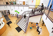 Monroe, New York - People walk through the lobby at the new South Orange Family YMCA on Wednesday, Feb. 16, 2011.