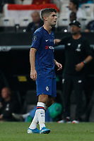 ISTANBUL, TURKEY - AUGUST 14: Christian Pulisic of Chelsea looks on during the UEFA Super Cup match between Liverpool and Chelsea at Vodafone Park on August 14, 2019 in Istanbul, Turkey. (Photo by MB Media/Getty Images)