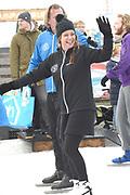 Leden van de koninklijke familie nemen deel aan de tweede editie van De Hollandse 100 op FlevOnice, een sportief evenement van fonds Lymph&Co ter ondersteuning van onderzoek naar lymfeklierkanker. <br /> <br /> Members of the royal family take part in the second edition of the Dutch 100 on FlevOnice, a sporting event Lymph & Co fund to support research into lymphoma.<br /> <br /> Op de foto / On the photo:  Prinses Annette
