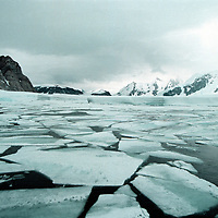 Pack ice near Wordie iceshelf, in future this will melt away.