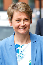 © Licensed to London News Pictures. 15/06/2015. London, UK. Labour leadership candidate YVETTE COOPER arriving to deliver a speech in central London on Monday, June 15, 2015. Photo credit: Tolga Akmen/LNP