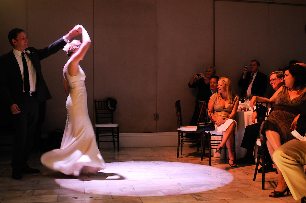 Bride and groom's first dance at the Cambridge Multicultural Arts Center, Cambridge, MA.