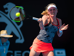 January 8, 2019 - Sidney, AUSTRALIA - Ekaterina Alexandrova of Russia in action during the first round of the 2019 Sydney International WTA Premier tennis tournament (Credit Image: © AFP7 via ZUMA Wire)