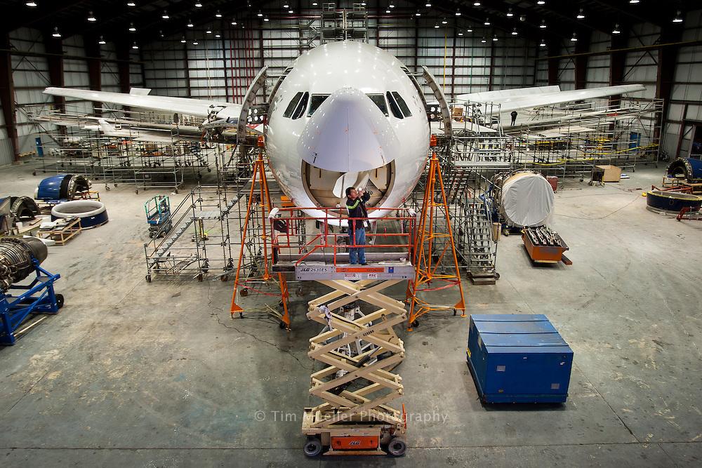 The AeroFrame hanger at the Chennault International Airport in Lake Charles, Louisiana.
