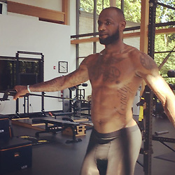 """LeBron James releases a photo on Instagram with the following caption: """"Core and mind stability!! Getting my cadence from the side. #StriveforGreatness\ud83d\ude80 #MyOffSeasonIsMySeason\ud83d\udc51 #IHaveToContinueToImprove"""". Photo Credit: Instagram *** No USA Distribution *** For Editorial Use Only *** Not to be Published in Books or Photo Books ***  Please note: Fees charged by the agency are for the agency's services only, and do not, nor are they intended to, convey to the user any ownership of Copyright or License in the material. The agency does not claim any ownership including but not limited to Copyright or License in the attached material. By publishing this material you expressly agree to indemnify and to hold the agency and its directors, shareholders and employees harmless from any loss, claims, damages, demands, expenses (including legal fees), or any causes of action or allegation against the agency arising out of or connected in any way with publication of the material."""