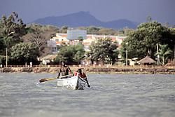 Two Men Boating, Lake Victoria