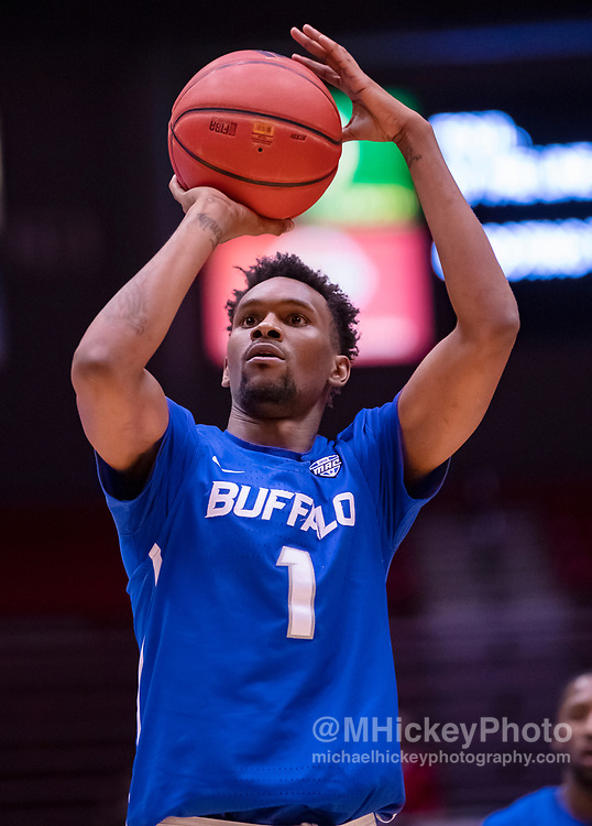 DEKALB, IL - JANUARY 22: Montell McRae #1 of the Buffalo Bulls shoots a free throw during the game against the Northern Illinois Huskies at NIU Convocation Center on January 22, 2019 in DeKalb, Illinois. (Photo by Michael Hickey/Getty Images) *** Local Caption *** Montell McRae