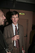 Justin Goad,  Book launch for ' What Did I Do last night' by Tom Sykes. Century Club. Shaftesbury Ave. London. 16 January 2006. -DO NOT ARCHIVE-© Copyright Photograph by Dafydd Jones. 248 Clapham Rd. London SW9 0PZ. Tel 0207 820 0771. www.dafjones.com.