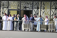 Guests watching the action on the 18th green during the final round of  the Saudi International powered by Softbank Investment Advisers, Royal Greens G&CC, King Abdullah Economic City,  Saudi Arabia. 02/02/2020<br /> Picture: Golffile   Fran Caffrey<br /> <br /> <br /> All photo usage must carry mandatory copyright credit (© Golffile   Fran Caffrey)